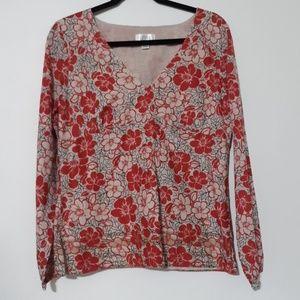 Ann Taylor LOFT Floral Top Blouse 12